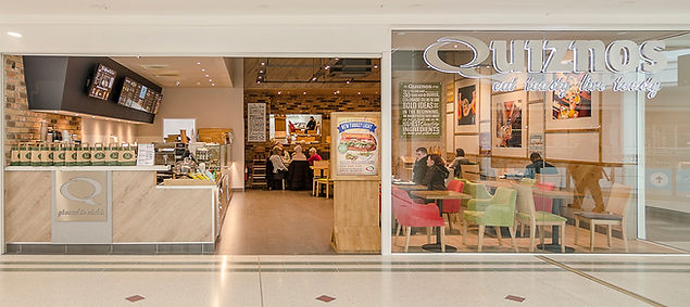 Quiznos Bromley, complete design service, new brand direction.