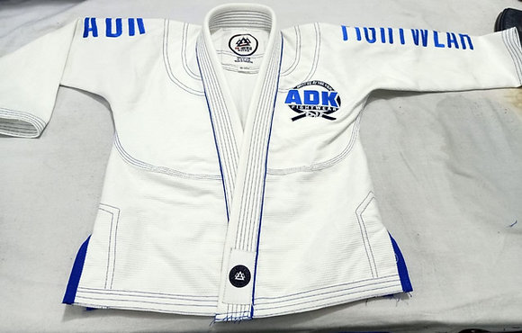 """ARMSTRONG"" WHITE AND BLUE ADK Gi - ADULT"