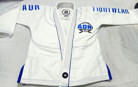 """ARMSTRONG"" White and Blue ADK Gi - KIDS"