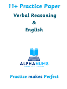 11 Plus Practice Paper 3 VR and English