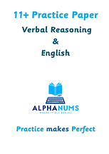 11 plus VR and English Practice Paper 1