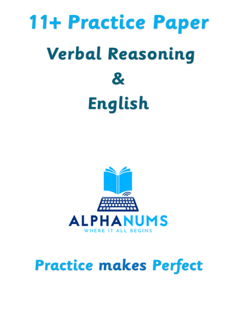 11+ Practice Paper 1 VR and English