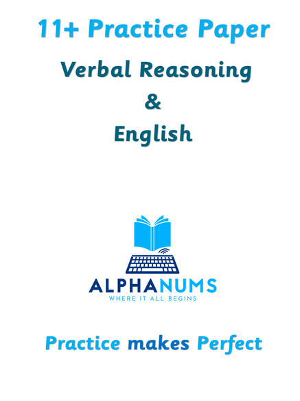 11 Plus Practice Paper 1 VR and English