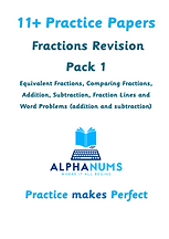 11+ Practice Paper - Fractions revision