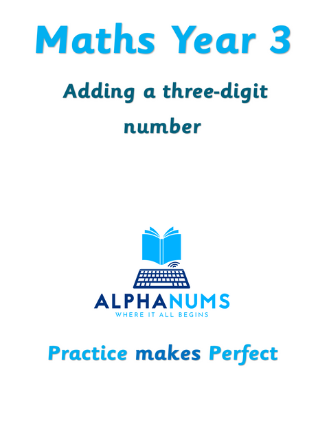 Adding a three digit number-Year 3