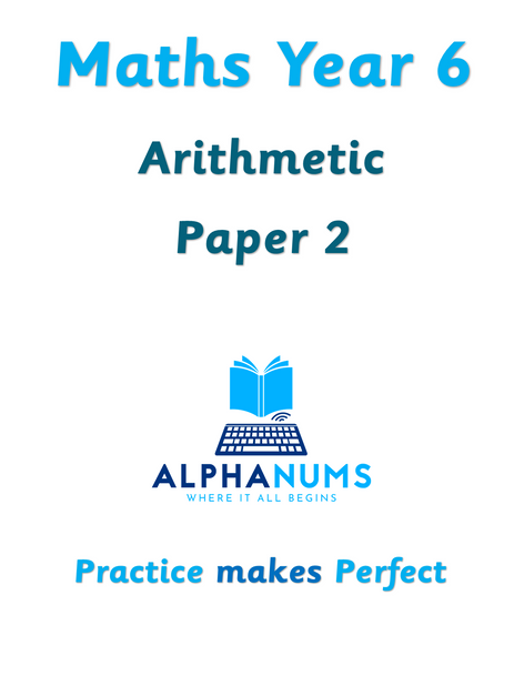 Year 6 Arithmetic Paper 2