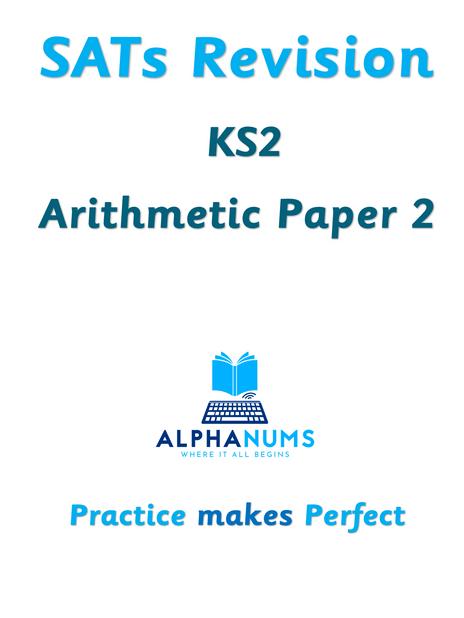 SATs Revision KS2 Arithmetic Paper 2