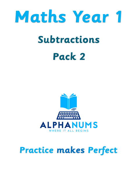 Subtractions pack 2-Year 1