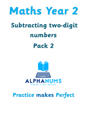 Subtracting two digit numbers pack 2-Year 2