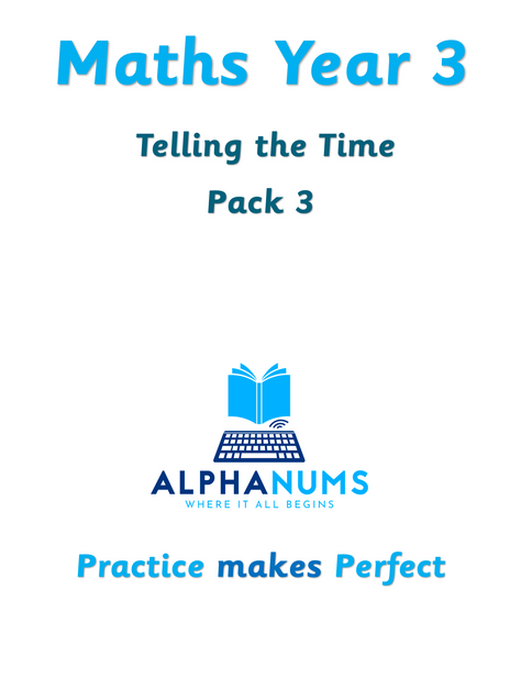 Telling the Time Pack 3-Year 3