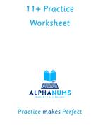 11plus worksheet Antonyms