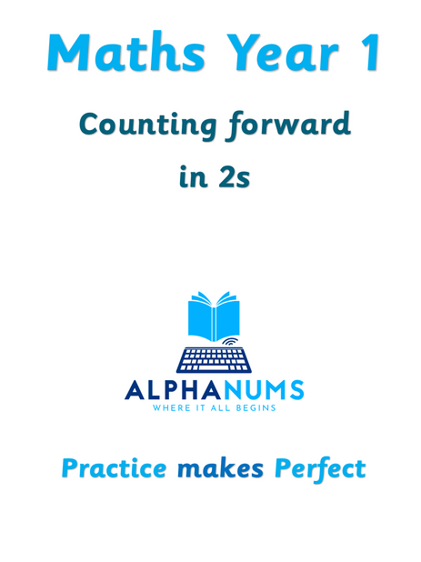 Counting foward in 2s-Year 1
