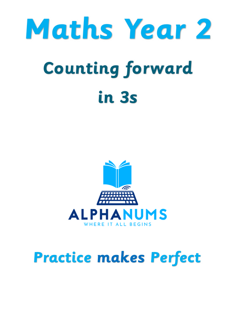 Counting foward in 3s-Year 2
