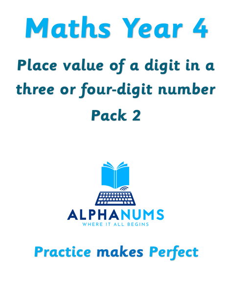 Recognising the place value of a digit
