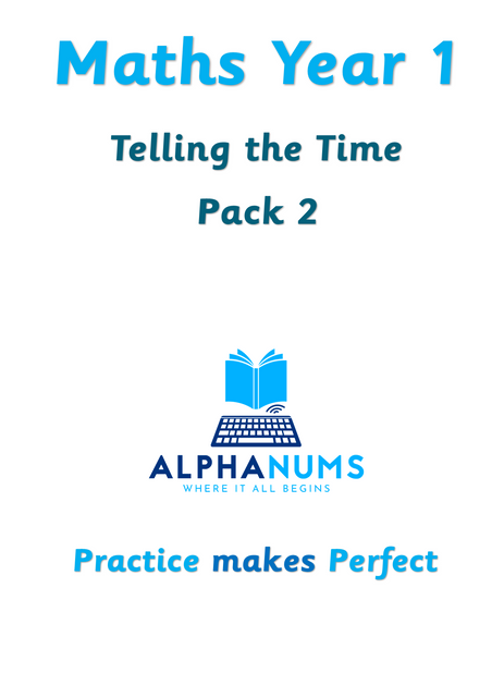 Telling the time pack 2-Year 1