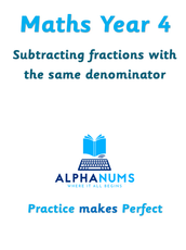 Subtracting fractions with the same denominator-Year 4