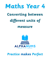 Converting between different units of measure-Year 4