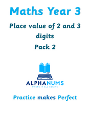 Place Value of 2 and 3 digit numbers-Year 3
