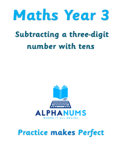 Subtracting a three-digit number with tens-Year 3