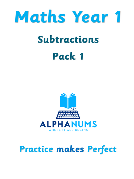 Subtractions pack 01-Year 1