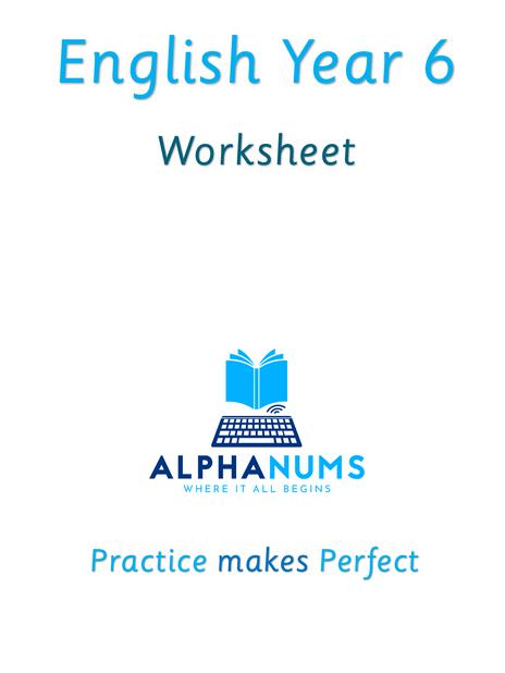 Year6 Worksheet Negative Prefixes