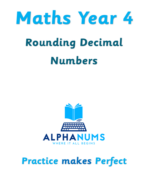 Rounding decimal numbers with one decimal-Year 4