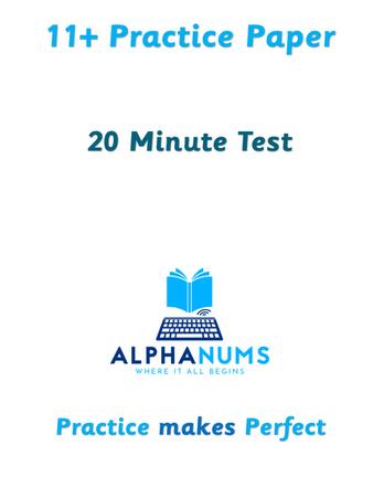 11plus 20-Minute Test1