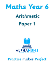Year 6 Arithmetic paper 1