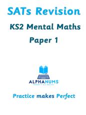 SATs Revision Year6 Mental Math Paper 1