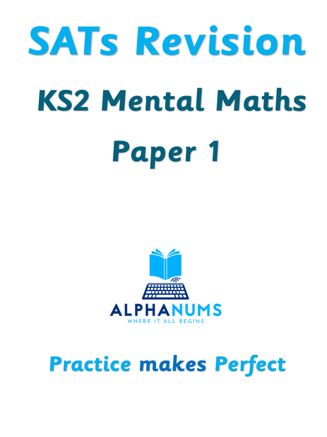 SATs Revision Year6 Mental Math Paper 1