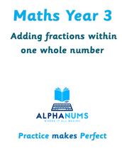 Adding fractions within one whole number-Year 3