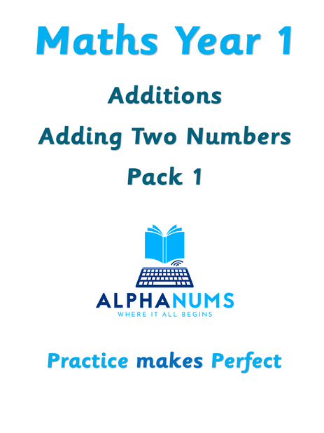 Additions adding 2 numbers pack 1-Year 1