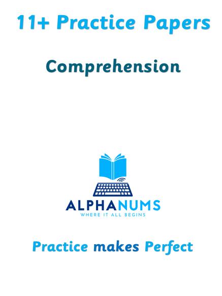 11+ Comprehension Paper1 (CEM Style)