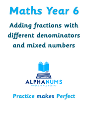 Adding fractions-Year 6