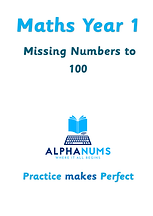 Missing numbers to 100  maths year 1