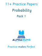 11+  Probability revision Pack 1