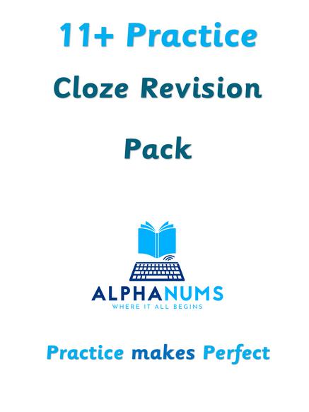 11Plus Cloze Revision Pack 1