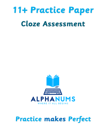 11 plus Cloze Practice Paper 1