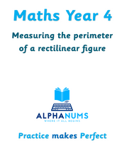 Measuring the perimeter of a rectilinear figure-Year 4