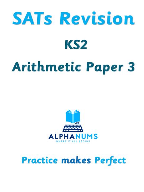 SATs Revision KS2 Arithmetic Paper 3