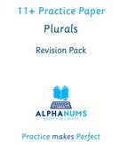 11plus Plurals - Revision pack 1