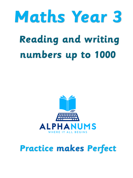 Reading and writing numbers upto 1000-Year 3