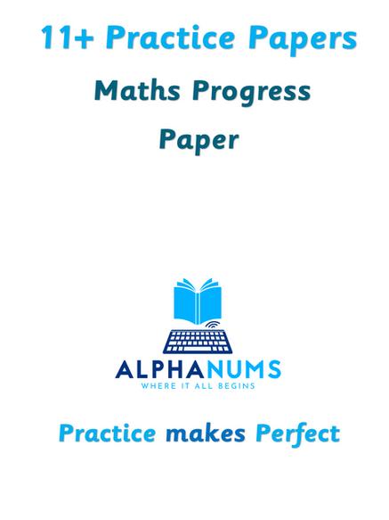 11plus Maths Progress Paper 2