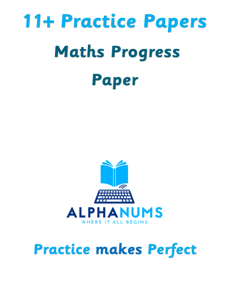11plus Maths Progress Paper 1