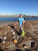 Post rain beach clean-up