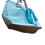 Thumbnail: Blue Purse / Mini Tote with Jelly Fish