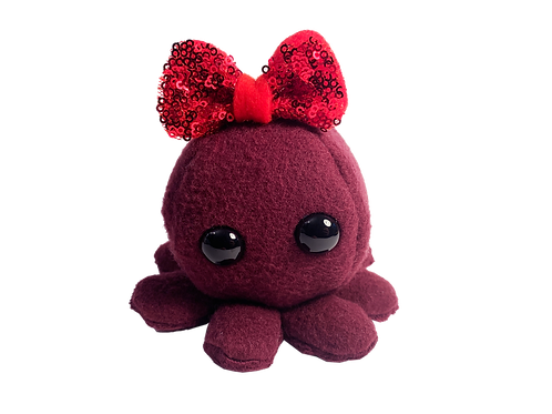 Maroon Octopus with Red Sequin Bow