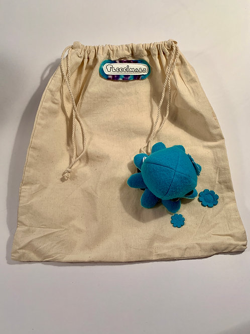 Canvas Drawstring Bag with Detachable Octopus