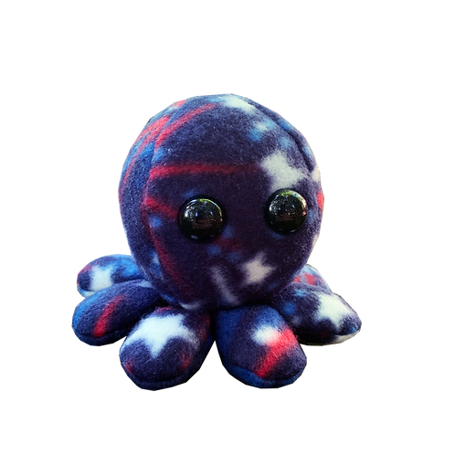 Red, White and Blue Octopus