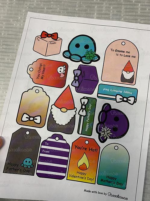 Printable Gift Tags Ver 1